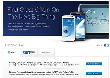 Samsung Mobile USA's Offers